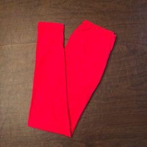 Lularoe red leggings